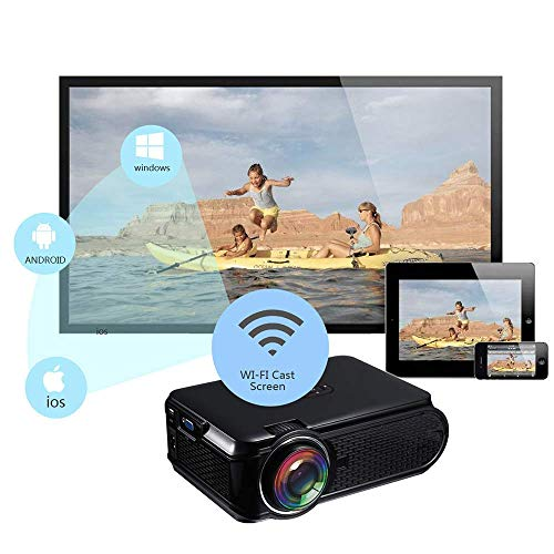 Mengen88 Mini projector draagbare multimedia video beamer 1500Px 1080P compatibel met iPad/TV Stick/Laptop PC/Smartphone Home Cinema Theater