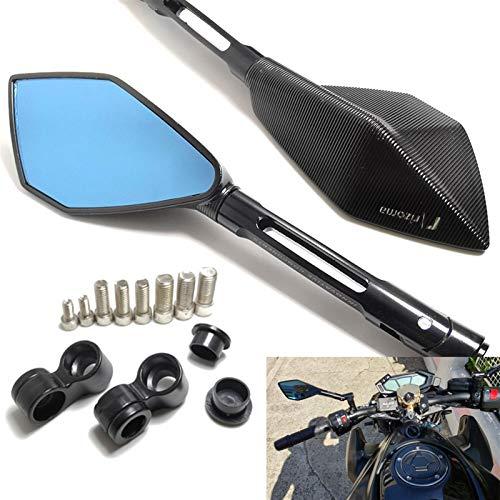 Moderbike Mirror Par Accesorios Retrovisor Mirror 2pcs para Honda Hornet CB600, para MT07 MT09 para Kawasaki Z800 Z1000 Suzuki (Color : Long)