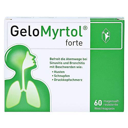 GeloMyrtol forte 60 St., pflanzlicher Schleimlöser bei akuten Atemwegsinfekten mit Husten, Schnupfen und Druckkopfschmerz (Symptome der Sinusitis & Bronchitis)