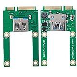 ASHATA mSATA to USB Conversion Card Mini PCI-E Expansion Converter Adapter USB2.0 mPCI-E for WIN2000/XP/Vista/Win7/Win8/LINUX