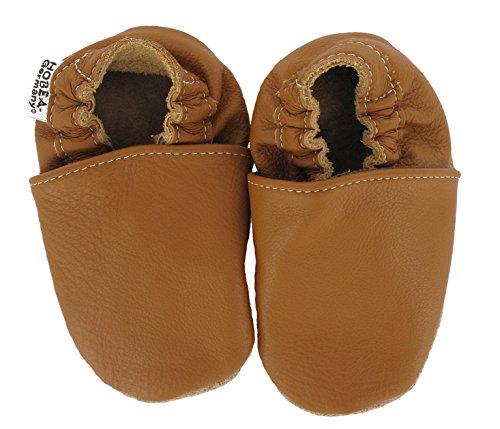 HOBEA-Germany Krabbelschuhe für Jungs und Mädchen in verschiedenen Designs, Größe Schuhe:20/21 (12-18 Mon);Uni Schuhe:Nougat