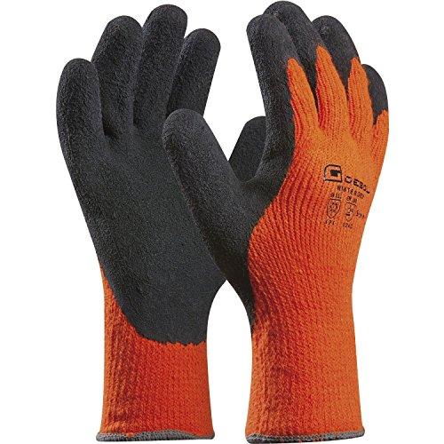 Arbeitshandschuh WINTER GRIP | Größe 11 (XXL) | orange/schwarz | schützt vor Kälte | 1 Paar