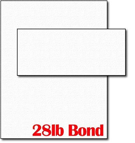 28lb White Linen Resume Paper & Envelopes - 40 Sets