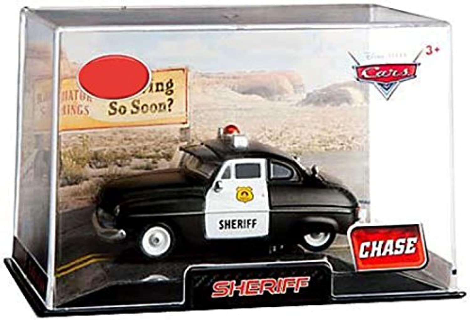 Disney   Pixar CARS Movie Exclusive 1 48 Die Cast Car In Plastic Case Sheriff [Chase Edition] by Disney