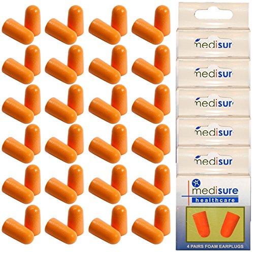 Mediusre Santé Voyage de couchage en mousse souple Bouchons d'oreille Réduction de bruit, Orange, 6 boîtes (24 paires)