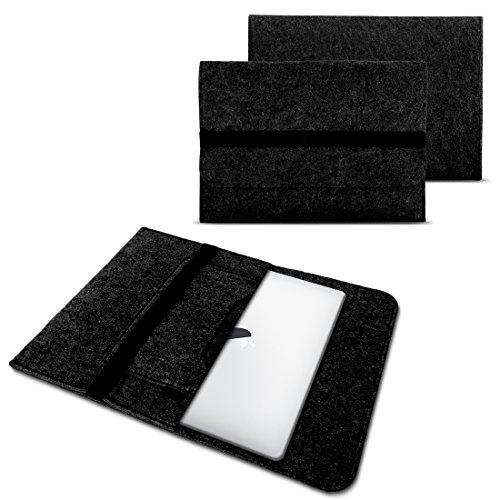NAUC Laptop Tasche Sleeve Hülle Schutztasche Filz Cover für Tablets & Notebooks Farbauswahl kompatibel für Samsung Apple Asus Medion Lenovo, Farben:Dunkel Grau, Größe:15-15.6 Zoll
