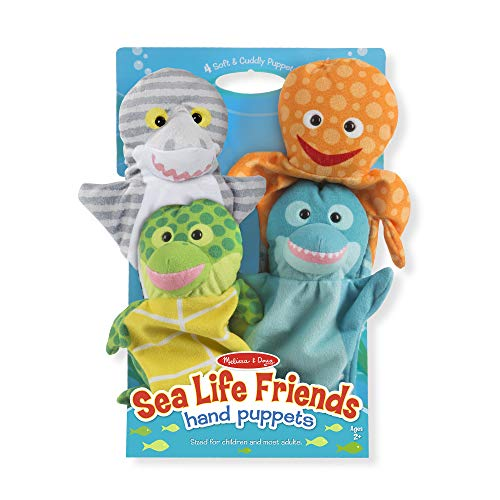 Set of 4, Melissa & Doug Sea Life Friends Hand Puppets -$11.41(43% Off)