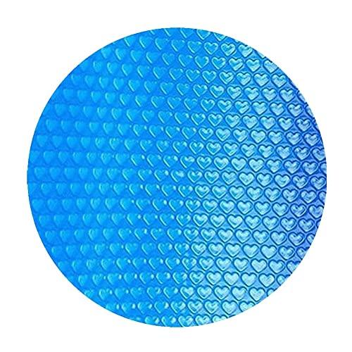 Doherty Cubierta solar para piscina – Cubierta de protección contra el polvo redonda con película de aislamiento azul – Cubierta rectangular para protección de plantas 5 tamaños