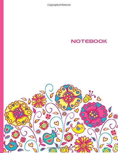 Notebook: Lined Notebook Journal - Stylish Flowers Pink - 120 Pages - Large 8.5 x 11 inches - Composition Book Paper - Minimalist Design for Women, ... - Newest Color Trends Collection - Wide Ruled