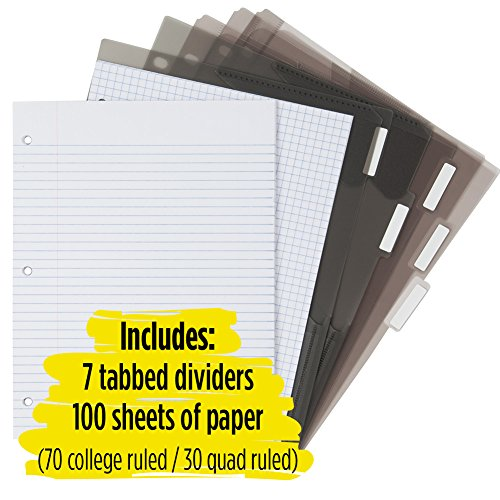 Five Star Flex Hybrid NoteBinder, 1-1/2 Inch Binder with Tabs, Notebook and 3 Ring Binder All-in-One, Red (72399) Photo #7