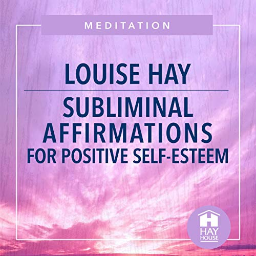 Diseño de la portada del título Subliminal Affirmations for Positive Self-Esteem