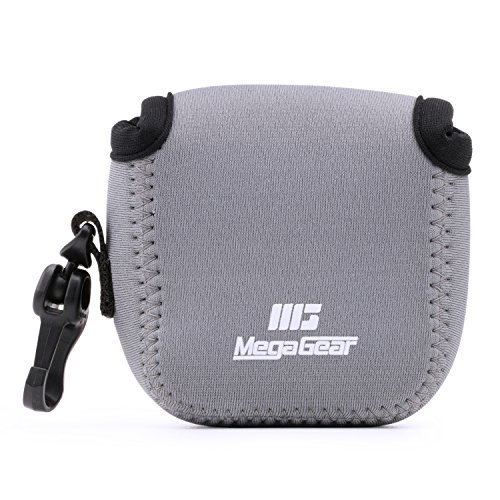 MegaGear MG1314 Estuche de cámara ultra ligero, de neopreno compatible con DJI Osmo Action, Sony RX0 II, GoPro Hero 7, Sony RX0 1.0, GoPro Hero 5 Black, Hero 6 Black - Gris