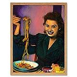 Wee Blue Coo Painting Portrait Sophia Loren Movie Actress