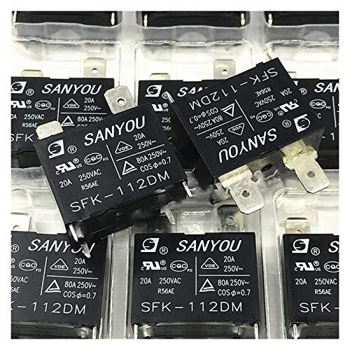 JIANGFBH Relè Universale 10 pz/Lotto 100% Nuovo Originale SAYOU Relay SFK 112DM SFK-112DM 12V 20A 250VAC 4PIN Air condizionatore Air Conditioner Relay