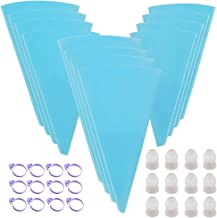 "TIMGOU 36 Pcs Cake Decorating Tools Kit, 12 pcs Reusable Silicone Icing Pastry Bags 12"" 14"" 16"", 12 pcs Standard Couplers ..."