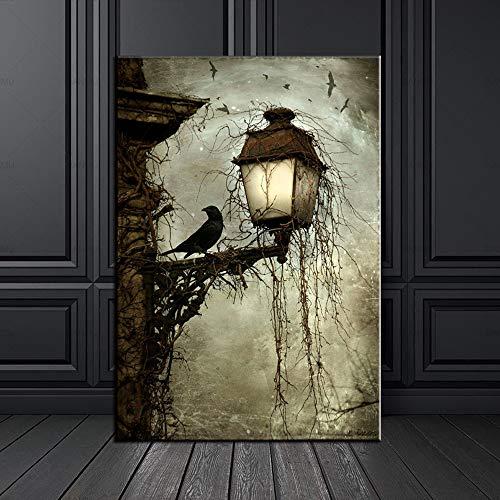 keletop 1000pcs_Wooden Adult Puzzle_Watercolor Crow Animal_ Diviértete y diviértete Jugando con Amigos y Familiares_50x75cm