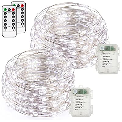 buways 2 Pack Fairy Lights 50 LED Battery Operated …