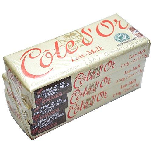 Cote d'Or - Milk Lait - 3 confezioni - 150 g - Cioccolato al latte belga - Barrette di cioccolato classiche - Spuntino perfetto - Tavoletta di cioccolato incartata singolarmente- Importata dal Belgio