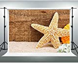 HD Children Photography Backdrop 10X7ft Wooden Board Starfish Sand Shell Background Theme Party Backgdrop for Photo Shooting Props GYGE077