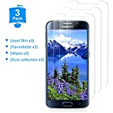 YIEASY [3 Piezas] Protector de Pantalla para Samsung Galaxy S6, Sin Burbujas Cristal [3D touch/9H Dureza] [Anti arañazos] [Fácil de Instalar] Vidrio Templado para Samsung Galaxy S6 - Transparente