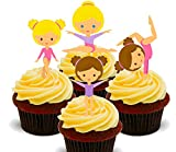 Poco Gymnasts, gimnasia–Decoración para tarta para comestible stand-up Cupcake de oblea toppers, 12 unidades
