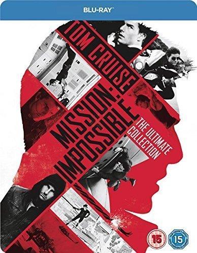 Mission Impossible The Ulitmate Collection, Steelbook, Zavvi exklusiv, Teile 1 bis 5, Blu-ray, Englisch, Teil 1 bis 3 und Teil 5 mit deutschem Ton,, Uncut, Regionfree