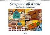 Origami trifft Küche - Die Kunst des Papierfaltens (Wandkalender 2020 DIN A3 quer): Kreative Papierfaltkunst, integriert in farbenfrohen Fotocollagen (Monatskalender, 14 Seiten ) (CALVENDO Hobbys)