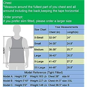 Neleus Men's Athletic 3 Pack Compression Under Base Layer Sport Tank Top,Black,XL,EUR 2XL