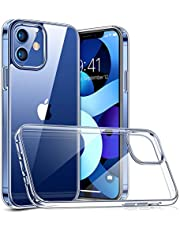 TORRAS Diamonds Clear iPhone 12 Case/iPhone 12 Pro Case [Anti-Yellowing] [Military Shockproof] Protective Hard PC with Soft Silicon Slim Thin iPhone 12 Phone Case/iPhone 12 Pro Cover Clear 6.1''-Clear