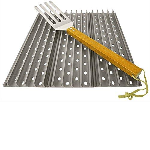 3x Grillgrate 45x13,34 cm (17,7 Zoll x 5,25 Zoll) Set + 1 free GrateTool