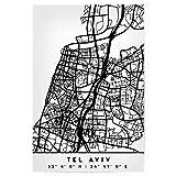 artboxONE Poster 30x20 cm Städte TEL Aviv Israel Black