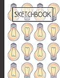 Lightbulbs pattern Sketchbook: Brilliant ideas 200 Page Sketchbook: Artist Edition (8.5x11)