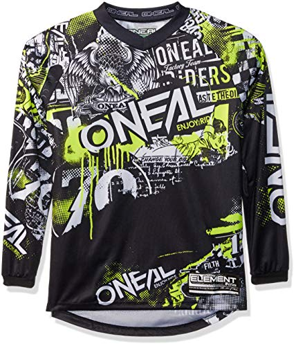 Element Youth Jersey Attack Black/neon Yellow, L