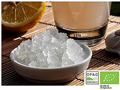 RawCultures® Certified Organic Water Kefir Grains 40g of Living Probiotics, Japanese Water Crystals, Probiotic starter (40g)