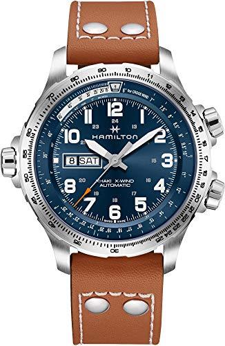 Reloj Hamilton Khaki X-Wind Day-Date Automático Piel marrón H77765541