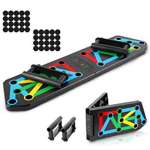 Glymnis Tabla de Flexiones 13 en 1 Push Up Board Plegable Multifuncional...