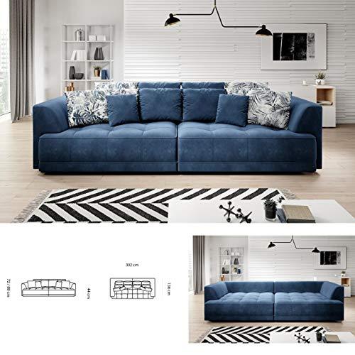TIGA Modernes großes Schlafsofa mit Stauraum und elektrischer Sitztiefenverstellung in jeder Farbe, Kunstleder/Stoff Basic