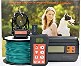 KoolKani Remote Dog Training Shock Collar & Underground/In-ground Electric Electronic Dog Boundary Containment Fence System Combo