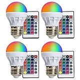 LED Glühbirne E27 RGBW XJLED 3W LED RGB Lampe Farbige