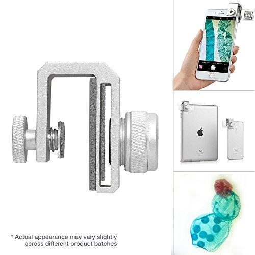 Supereyes - Microscopio para iPhone y Android (zoom óptico de 75x, microscopio compuesto biológico para estudiantes, con kit de diapositivas de muestra)