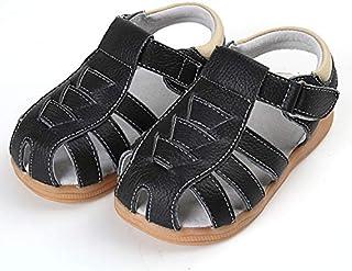 Boys Black Genuine Leather Sandal