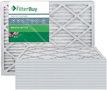 FilterBuy 24x24x1 MERV 13 Pleated AC Furnace Air Filter Pack of 12 Filters 24x24x1 Platinum product image