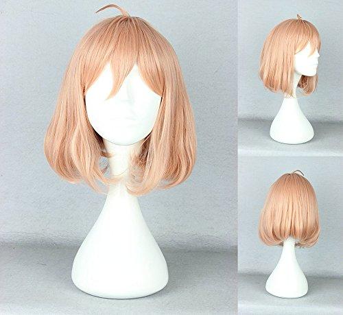 Ladieshair Cosplay Perücke Kyoukai no Kanata - Kuriyama Mirai Blond/Orange 35cm