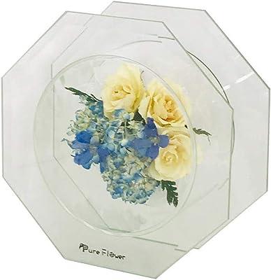 トーエー ピュアフラワー バラ/ホワイト・アジサイ P-ME-10 H170×W170×D70mm
