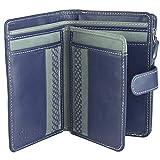 Sunsa Geldbörse für Damen Kleiner Leder Geldbeutel Portemonnaie mit RFID Schutz Brieftasche mit viele Kreditkarten Fächer Geldtasche Wallet Purses for Women das Beste Gift kleine Geschenk 81653