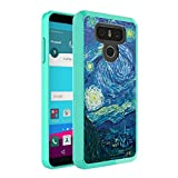 LG G6 Case, Capsule-Case Hybrid Slim Hard Back Shield Case with Fused TPU Edge Bumper (Teal Mint Green) for LG G6 - (Starry Night)