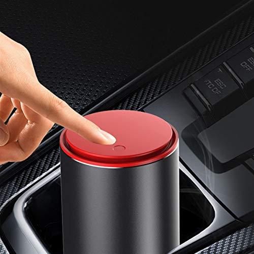 YFJLOVE YUFENGJIAO Mini Car Trash-bewegliches Auto Can Mülltonne mit Druckdeckel Dicht Müllbehälter Aschenbecher Staubbehälter gepasst for Autohaus (Color Name : Red)