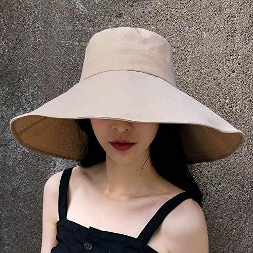 Elegante Sombrero De Cubo Negro De ala Ancha para Mujer Sombrero De Cubo Reversible De Verano Brigada De Panamá Niña Niña Sombrero De Cubo para Mujer