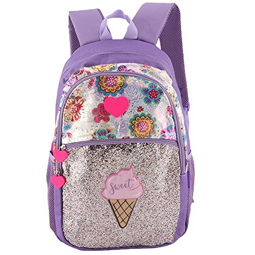 SALALIS Mochila de Moda, Mochila Escolar de Color Brillante para Actividades al Aire Libre para Uso Escolar(Purple)