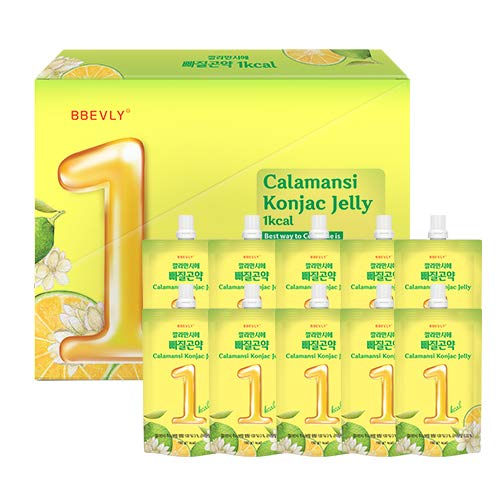 BBEVLY Calamansi Konjac Jelly - Dietary Supplement ( 10 packs , 5.29 oz)